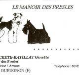 Photo de chiens de l'élevage DU MANOIR DES PRESLES