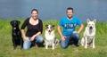 Jean-Fabien COURTAT et Clémence GAVEY éducateurs canins