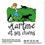 Martine et ses chiens