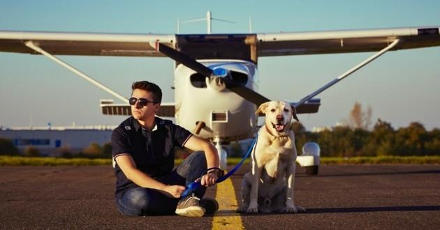 voyager avec son chien en avion
