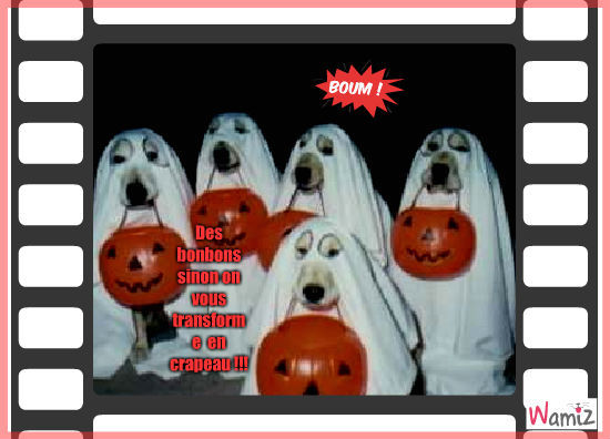 Les fantôme de Halloween, lolcats réalisé sur Wamiz