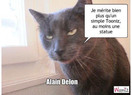 Alain Delon, lolcats réalisé sur Wamiz