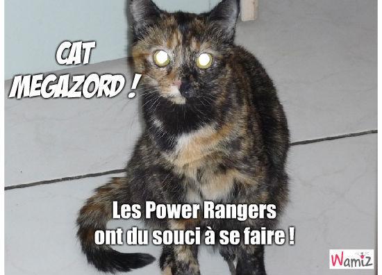 Cat MegaZord, lolcats réalisé sur Wamiz