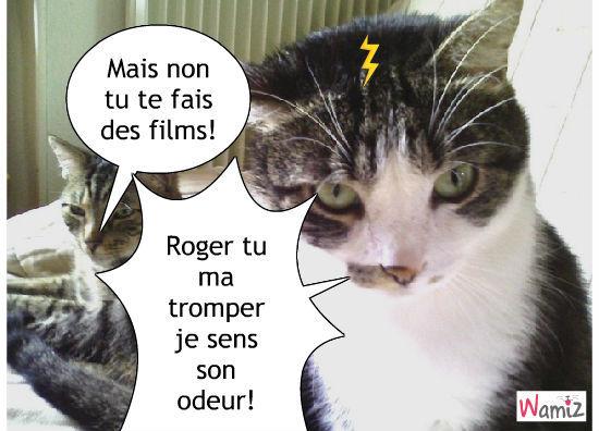 Roger le trompeur..., lolcats réalisé sur Wamiz