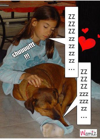 Moi et Moon qui dort !!!, lolcats réalisé sur Wamiz