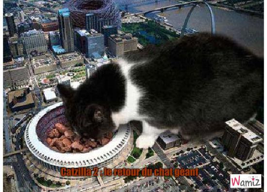 catzilla 2 : le retour du chat géant, lolcats réalisé sur Wamiz