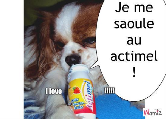 I love Actimel !, lolcats réalisé sur Wamiz