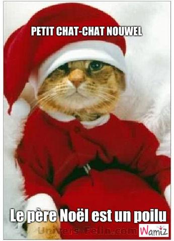 Chat-chat Noël, lolcats réalisé sur Wamiz