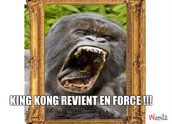 King kong revient en force !, lolcats réalisé sur Wamiz