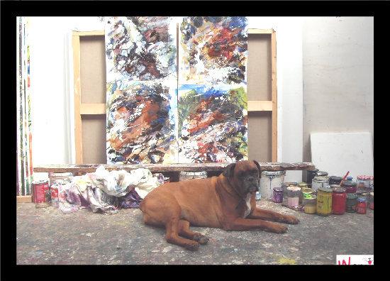 soleille dans l atelier du peintre, lolcats réalisé sur Wamiz