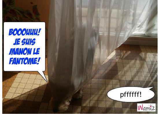 Manon se prends pour un fantôme!, lolcats réalisé sur Wamiz