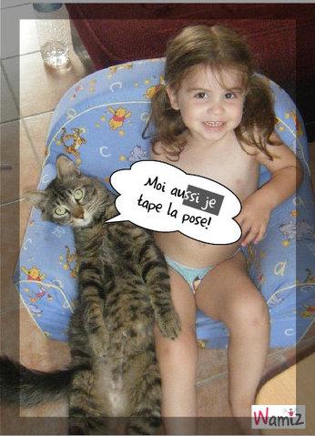 Pantoufle copie les poses de chloé!, lolcats réalisé sur Wamiz