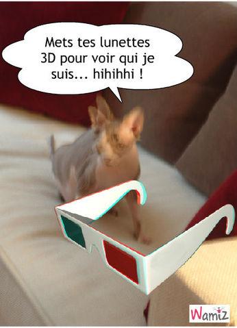 Chat en 3D, lolcats réalisé sur Wamiz