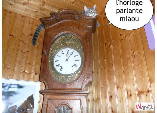 l'horloge parlante, lolcats réalisé sur Wamiz