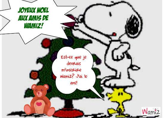 Snoopy Papa Noel, lolcats réalisé sur Wamiz
