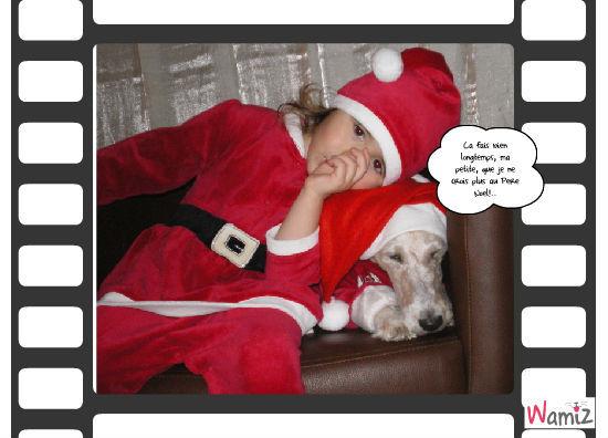 Photo pour le Père Noël, lolcats réalisé sur Wamiz