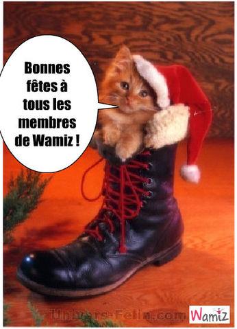 Bonnes fêtes les Wamiziens !, lolcats réalisé sur Wamiz