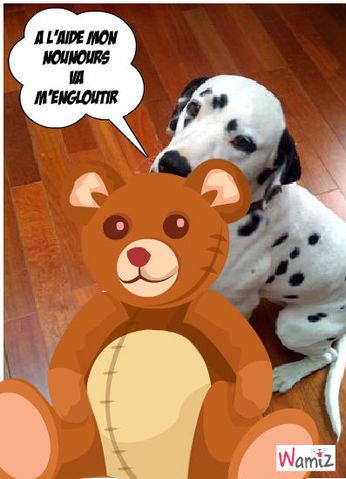 a l'aide ours attaque, lolcats réalisé sur Wamiz