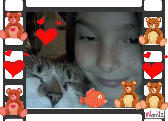l'amoure  d'un chat, lolcats réalisé sur Wamiz