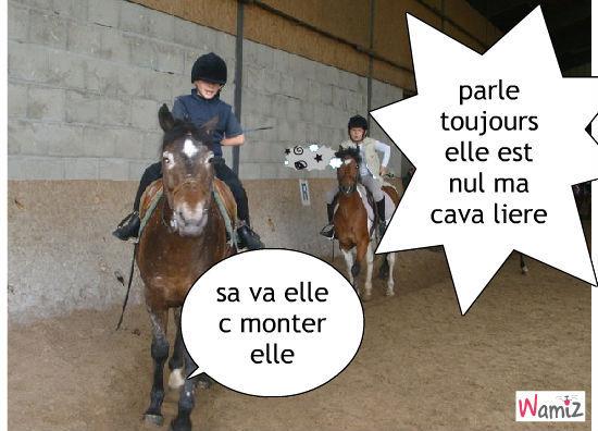 les chevaux!!!, lolcats réalisé sur Wamiz