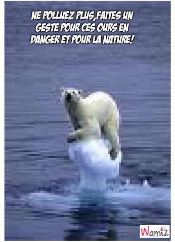 ours en danger, lolcats réalisé sur Wamiz