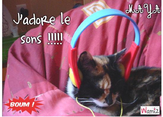 Maya' Elle aime le sons : ), lolcats réalisé sur Wamiz