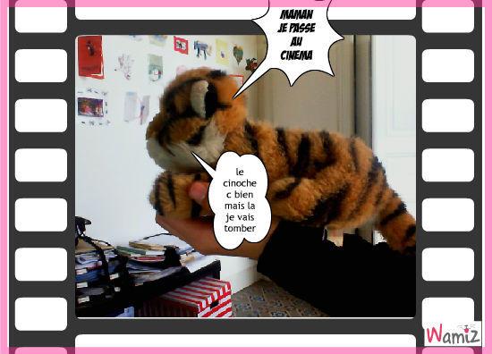 bebe  chat tigré passe au ciné, lolcats réalisé sur Wamiz