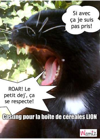 Lion, lolcats réalisé sur Wamiz