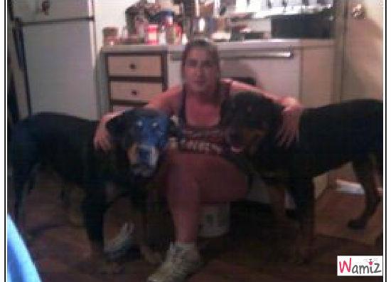 moi et mes deux chiens, lolcats réalisé sur Wamiz