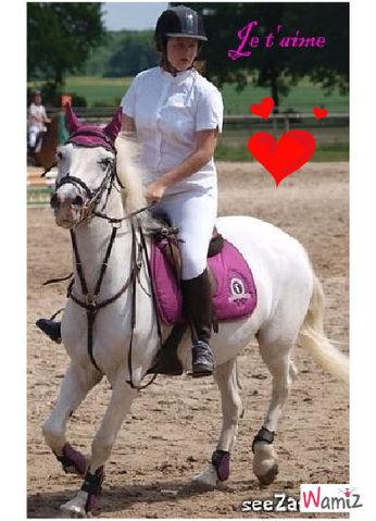 moi et mon poney , lolcats réalisé sur Wamiz
