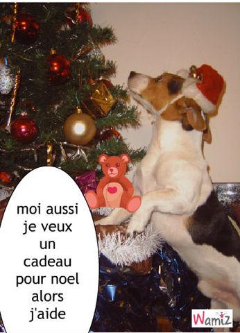 Ah les chiens a Noel, lolcats réalisé sur Wamiz