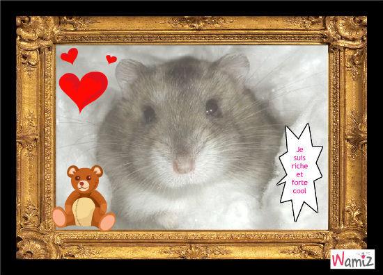 Clara mon hamster riche et forte, lolcats réalisé sur Wamiz