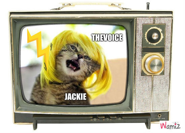 Jackie Chante, lolcats réalisé sur Wamiz
