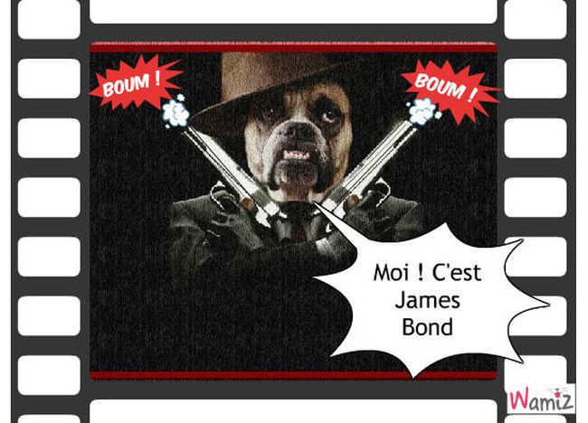 James Bond !, lolcats réalisé sur Wamiz