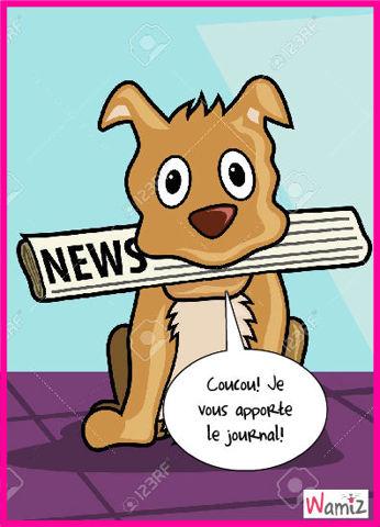 Le journal, lolcats réalisé sur Wamiz