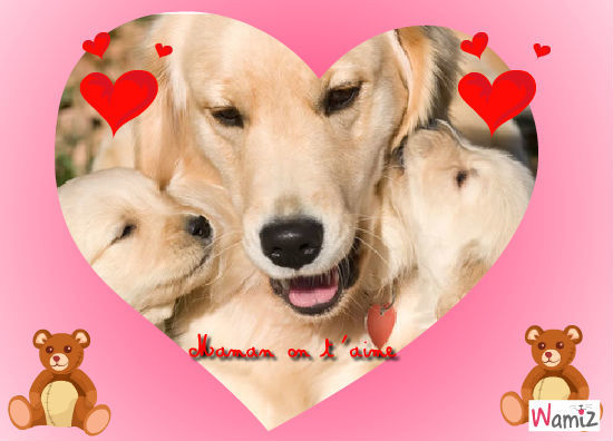 Maman on t'aime, lolcats réalisé sur Wamiz