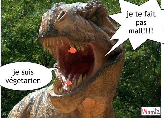 Dinosaure j 39 ai faim tooniz bande dessin e bd et for Marre a poisson