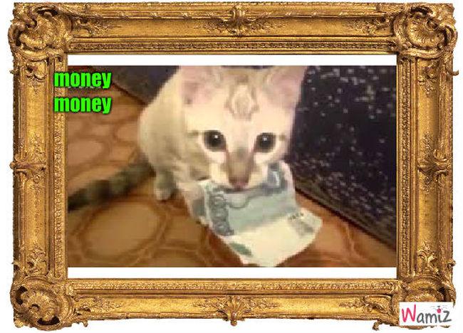 money money, lolcats réalisé sur Wamiz