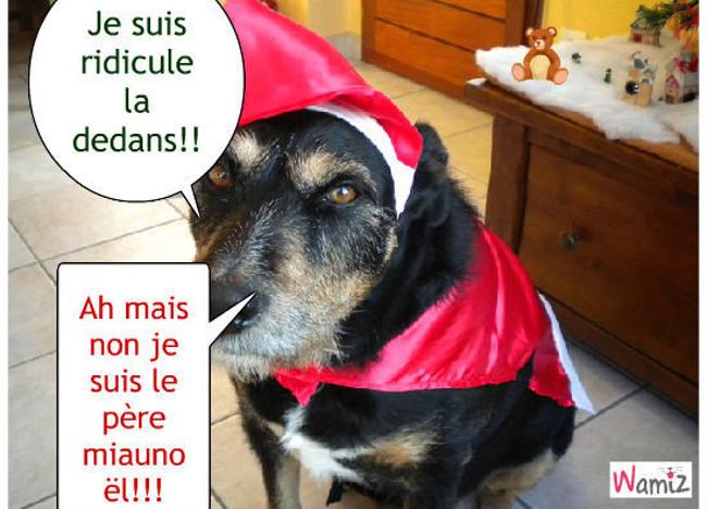 Noël de chien, lolcats réalisé sur Wamiz