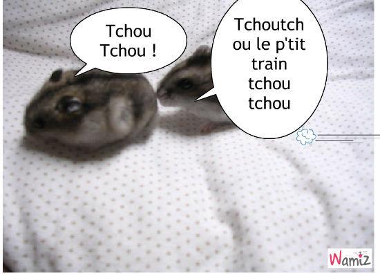 Mes ptits hamsters tooniz bande dessin e bd et photo - Tchou tchou le train ...