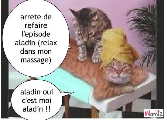 un massage relaxant, lolcats réalisé sur Wamiz