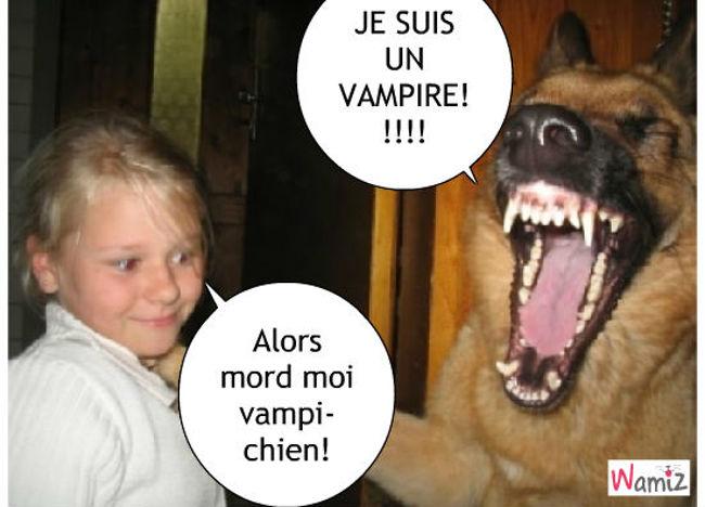 Vampi-chien, lolcats réalisé sur Wamiz