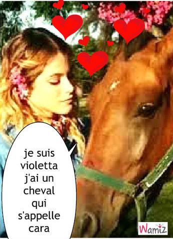 violetta et son cheval , lolcats réalisé sur Wamiz