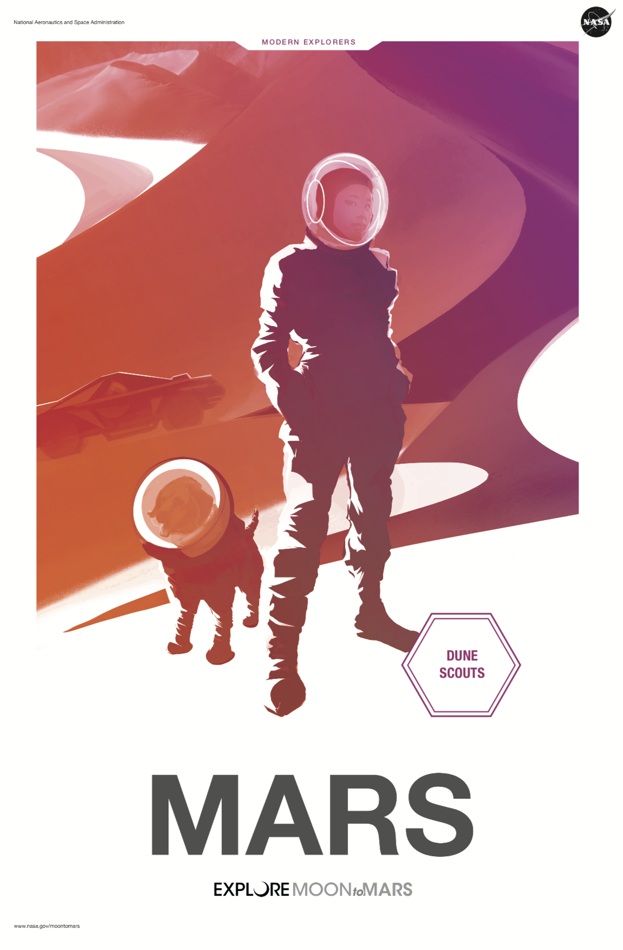 Comment vivrait un chien sur Mars ?