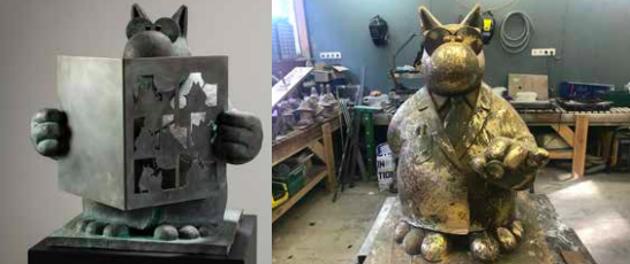 Les statues du Chat