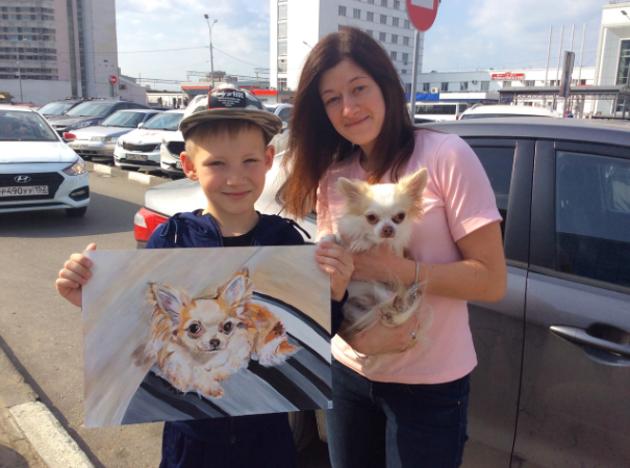 Pavel lors de la remise d'un portrait