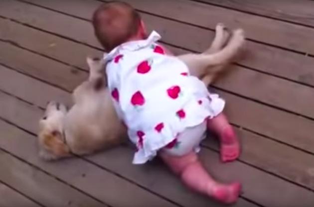 Ella jouant avec son chien