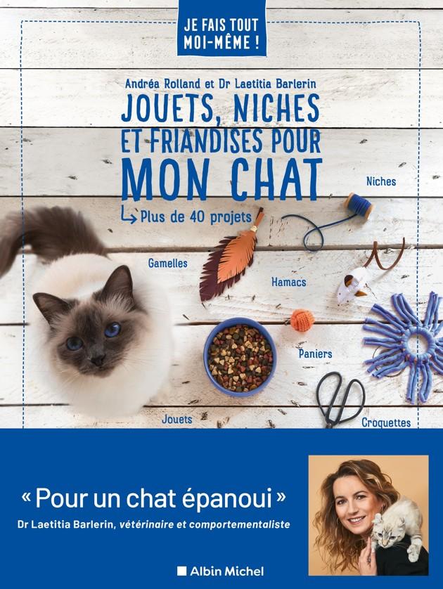 « Jouets, Niches et Friandises pour mon chat », un nouveau livre pour vous aider à fabriquer des objets DIY
