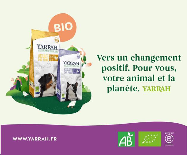 Yarrah alimentation bio pour chiens et chats