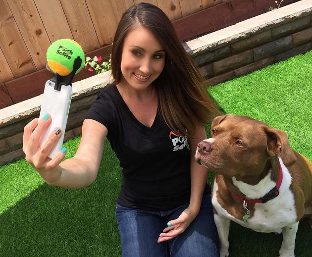 selfie chien accessoire